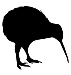 black silhouette of kiwi vector image