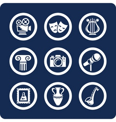 Culture and art icons vector