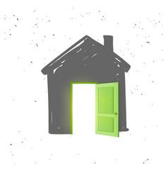 grey house icon vector image
