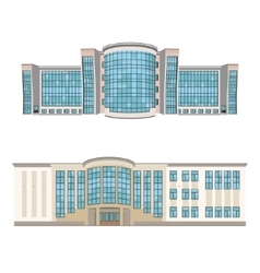 Set of two shopping centers or hotels vector image vector image