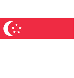 singapore flag for independence day and vector image