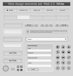 web design elements set white vector image vector image