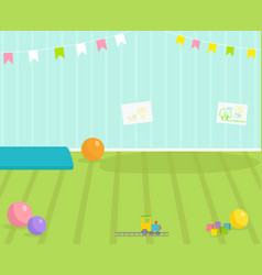 baby room interior view babyroom decor vector image