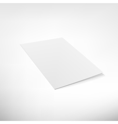 Folder page on white background vector image vector image