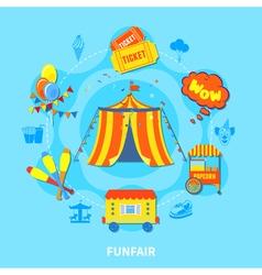 Funfair design vector image vector image