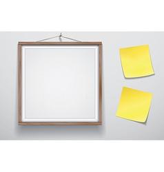 Mock up for presentation framed signboard with two vector image