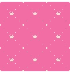 Princess pink background vector image vector image