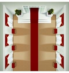 Top View Foyer Interior vector image