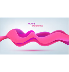 3d sound pink wave wavy abstract modern vector image
