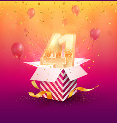 41 th years anniversary design element vector image