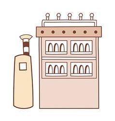 A cupboard vector
