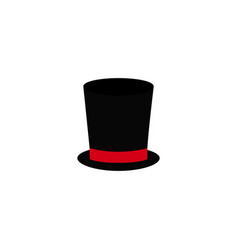 a hat cylinder for gentleman icon color vector image