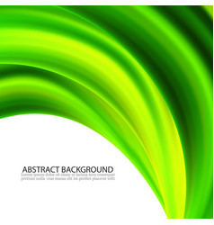 Abstract green wavy lines colorful vector