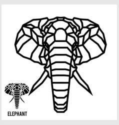 abstract linear polygonal head a elephant vector image