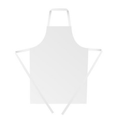 Apron mock up - front view vector