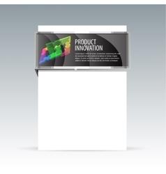 Banner design for demonstration of the goods vector