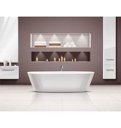 Bathroom Interior Realistic Design vector image