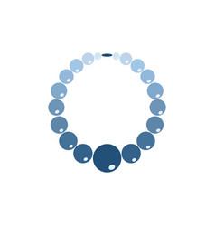 Beads jewelry vector
