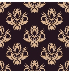 Beige colored floral seamless pattern vector image