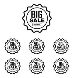 Big Sale Best offer badge line sticker label vector image