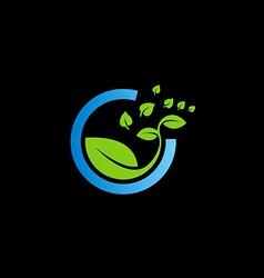Bio green leaf botany logo vector