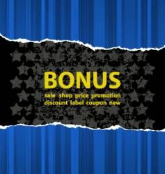blue bonus vector image