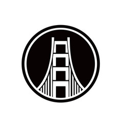 bridge logo design emblem template city landmark vector image