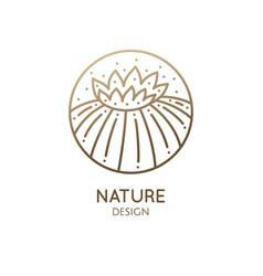 Cactus logo template vector