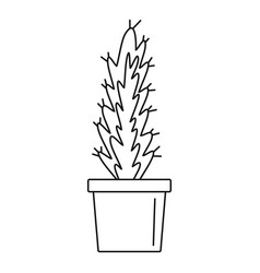 Cactus pot icon outline style vector