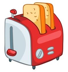 Cartoon home kitchen toaster vector