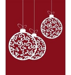 Christmas balls in retro style vector