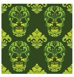 Classic skull ornamental pattern vector