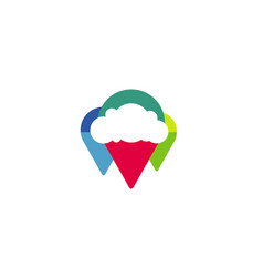 cloud finder logo vector image