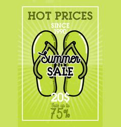 color vintage summer sale banner vector image