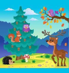 Coniferous tree theme image 3 vector