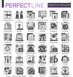 creative process classic black mini concept vector image