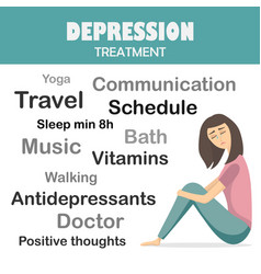 depression treatment infographic concept vector image