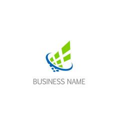 digital technology abstract company logo vector image