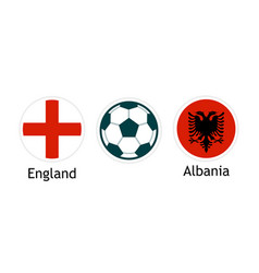 england versus albania - banner for soccer vector image