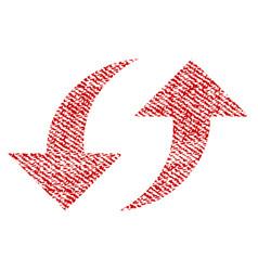 exchange arrows fabric textured icon vector image
