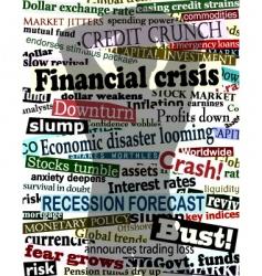 financial crisis shadow vector image