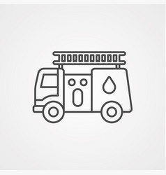 fire truck icon sign symbol vector image