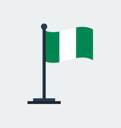 flag of nigeriaflag stand vector image