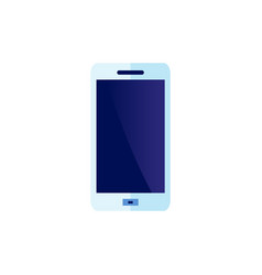 flat smartphone blue icon vector image