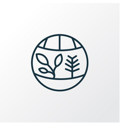 flora icon line symbol premium quality isolated vector image