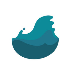Fresh cold water with waves vector