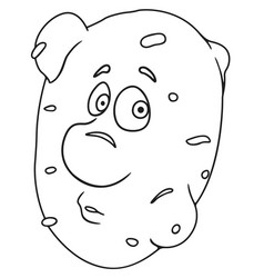 Fresh potato cartoon vector