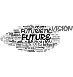 Future word cloud concept vector