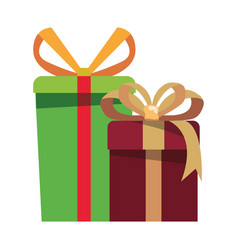 gift boxes surprise on white background vector image