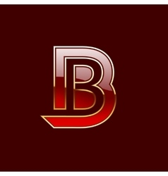 Gold Letter B Shape Logo Element vector